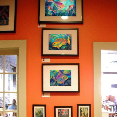Framed Fish Prints at the Flying Biscuit Cafe
