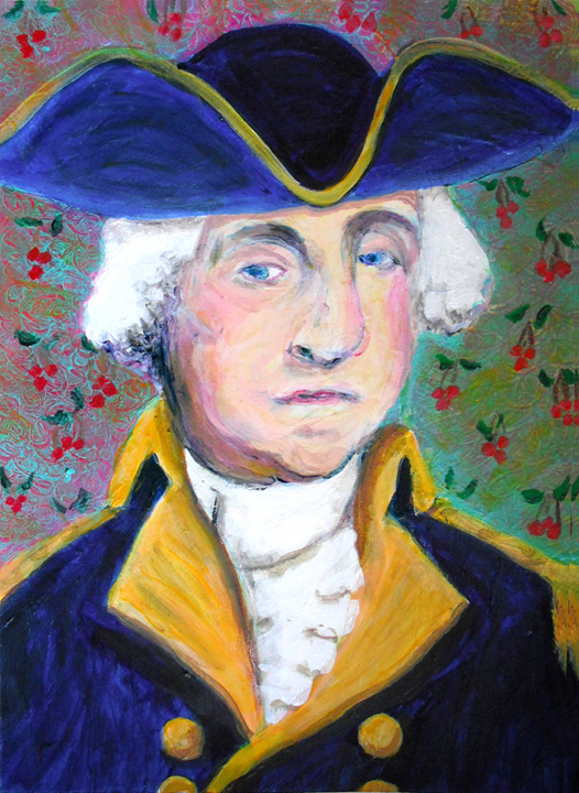 Portrait of George Washington acrylic painting by Heni Sandoval