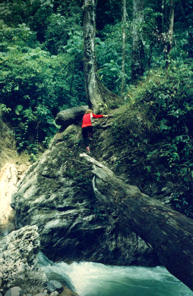 Hiking in the Sumatra Rainforest.