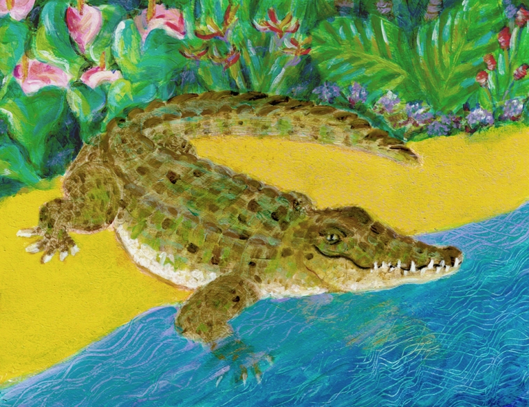 After a While Crocodile - acrylic painting by Heni Sandoval