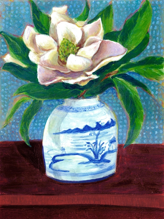 Magnolia Flower in Mom's Ginger Jar