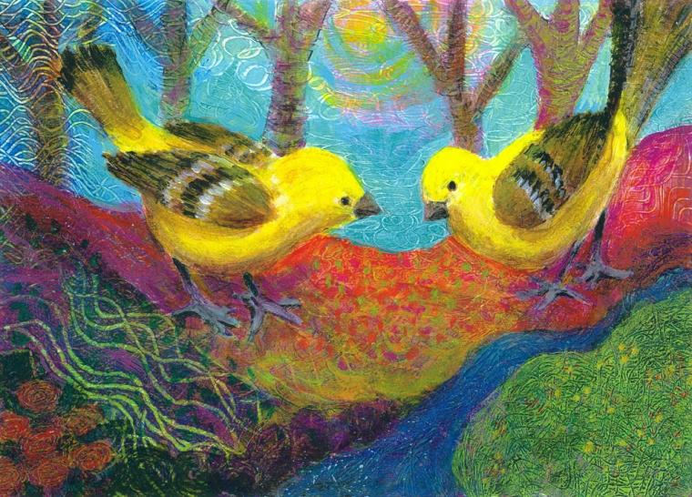 Two Golden Sparrows
