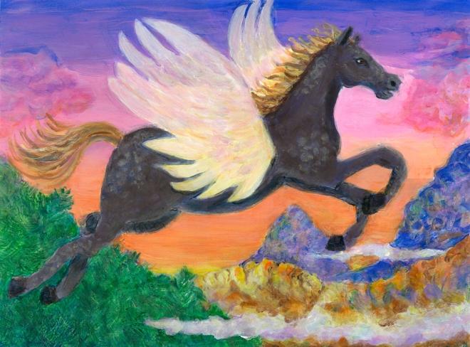 Peg acrylic painting by Heni Sandoval