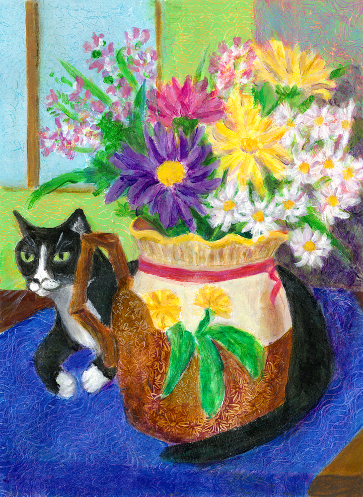 CAT BEHIND VASE 1000 x