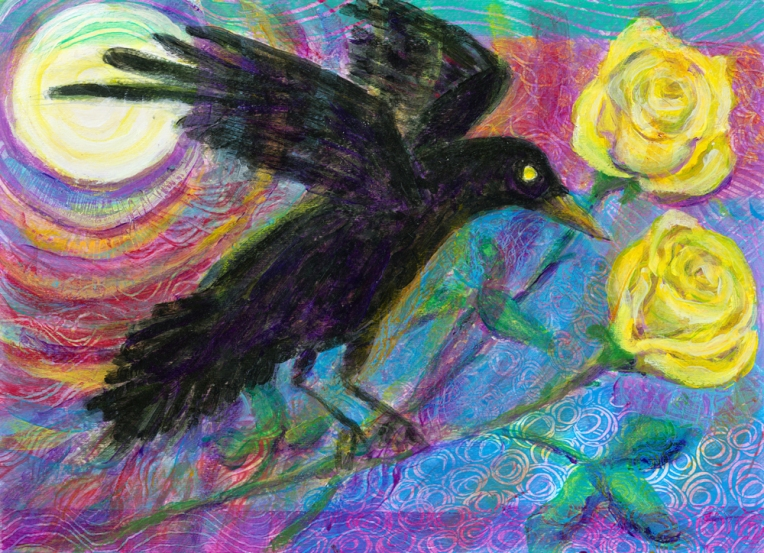 crow in moonlight 1000
